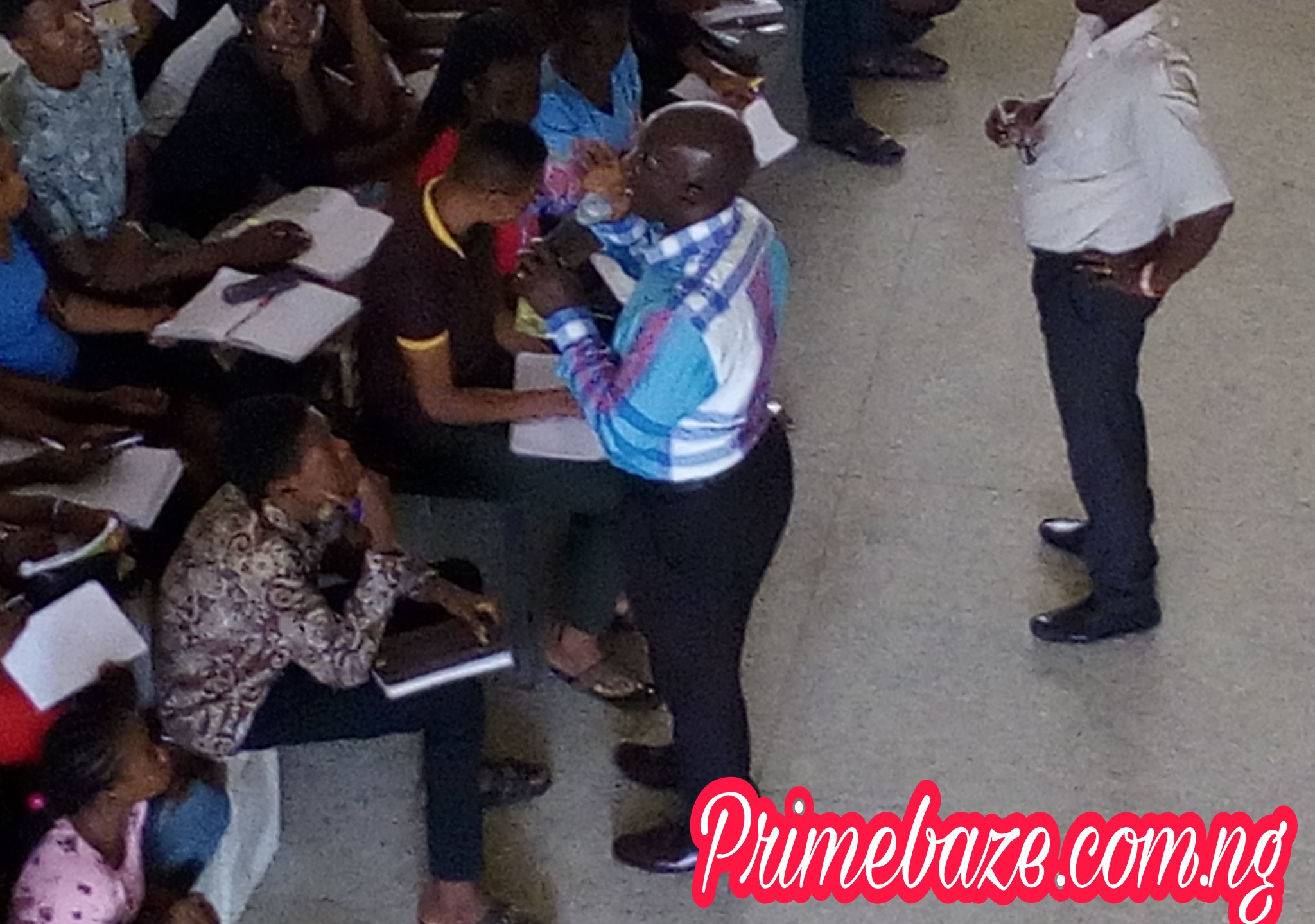 DELSU: VC Storms 100L Lecture Hall,  Addresses Issue Of Students Sitting On Bare Floor